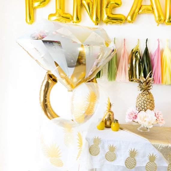 Party Like a Pineapple Balloon Tassel Party Box | Pink