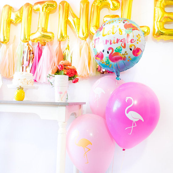 Let's Flamingle Balloon Tassel Party Box