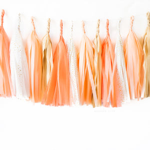 Golden Peach Paper Tassels