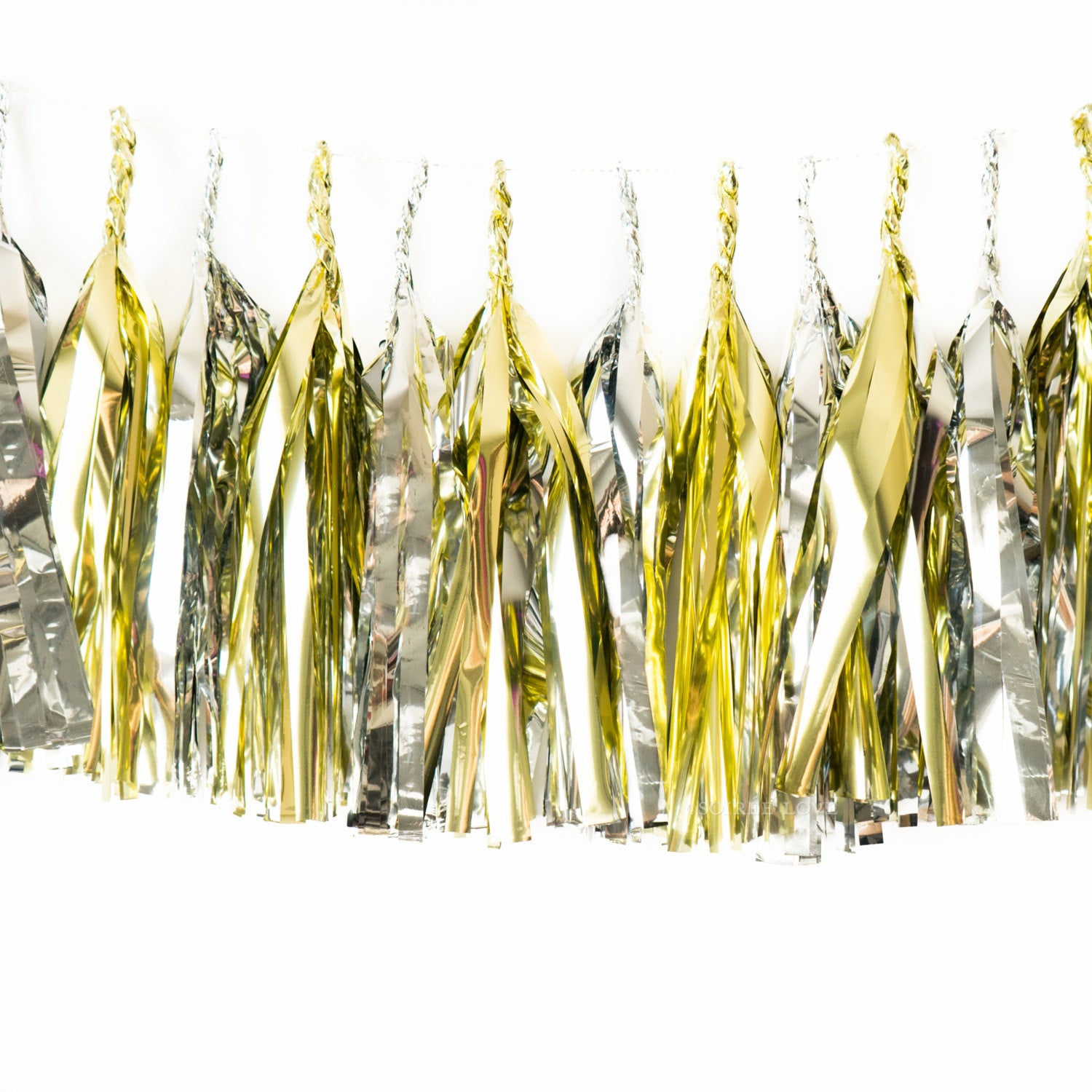 New Year Metallic Paper Tassels