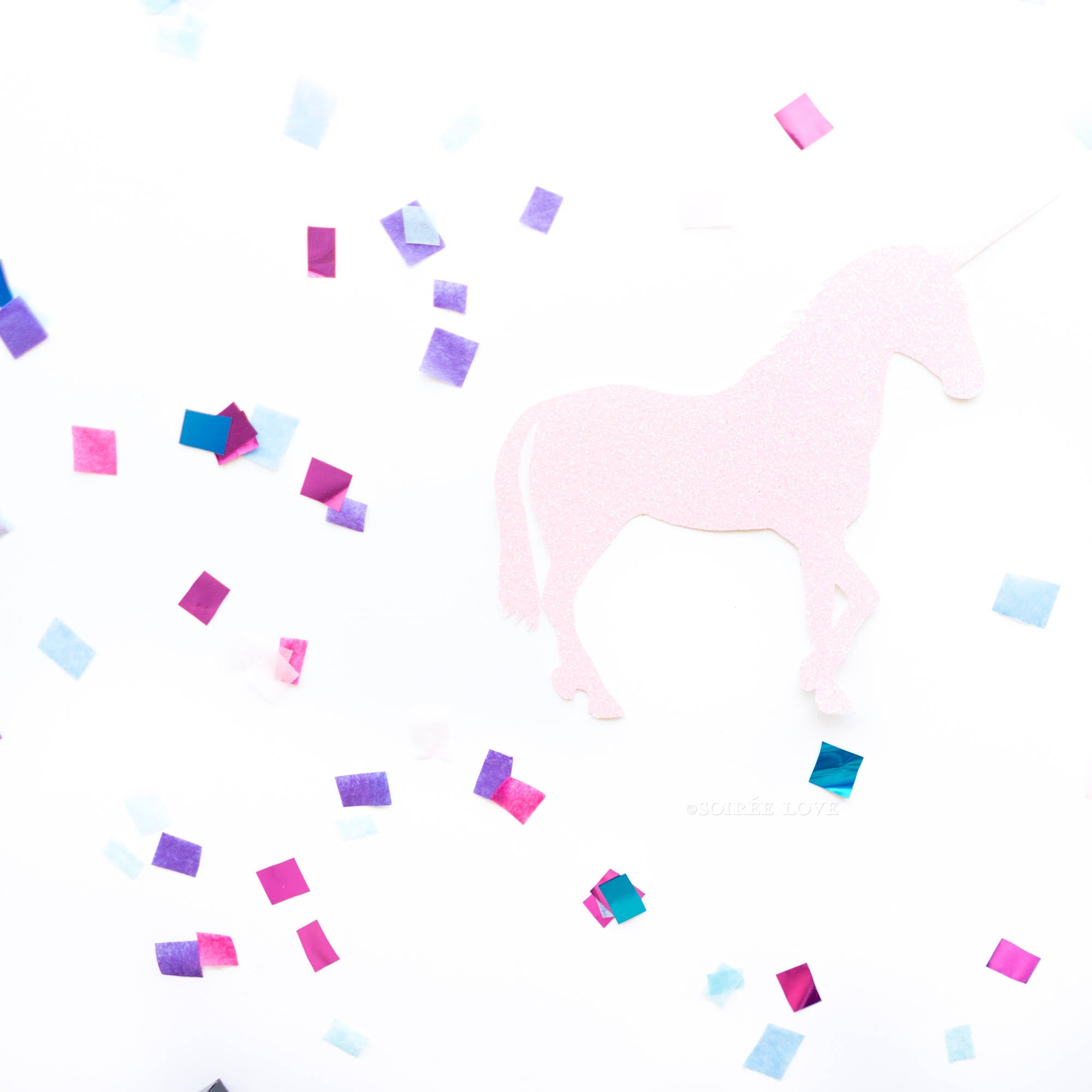 Metallic Unicorn Confetti