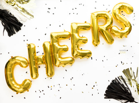 Cheers Balloon Banner