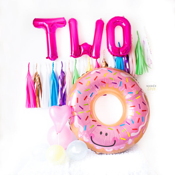 Donut Balloon Tassel Birthday Party Box
