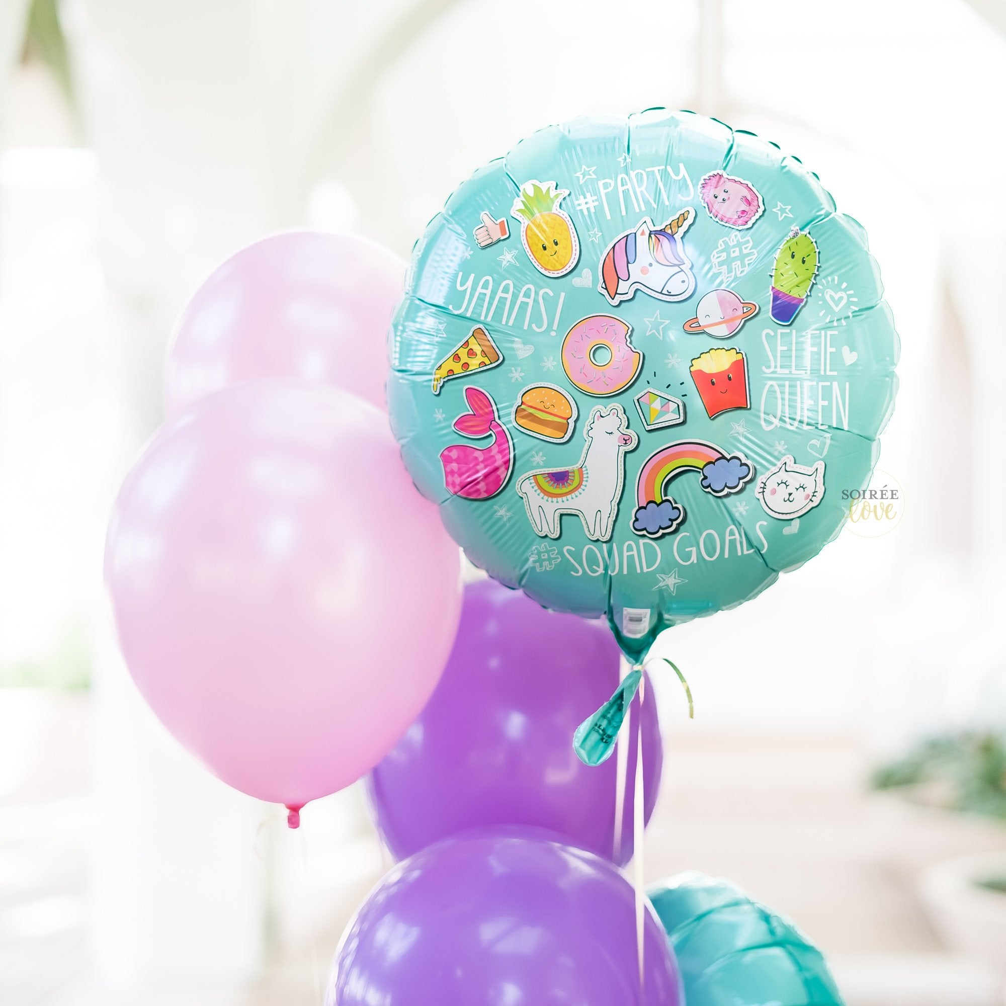 Unicorn Llama Party Balloon