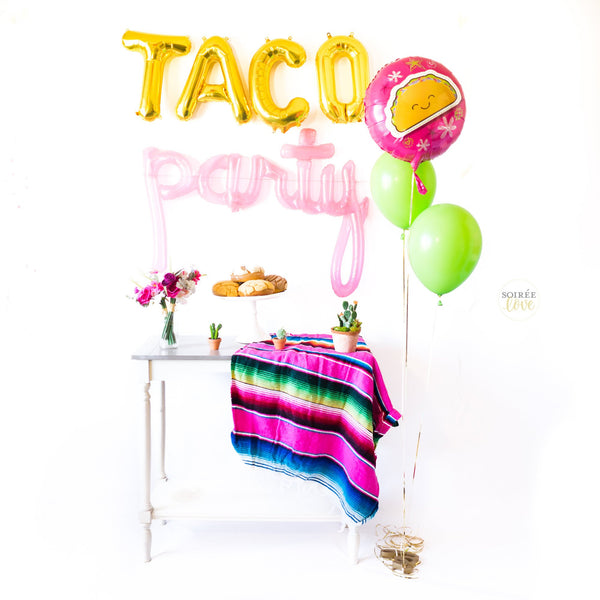 Taco Party Balloon Party Box