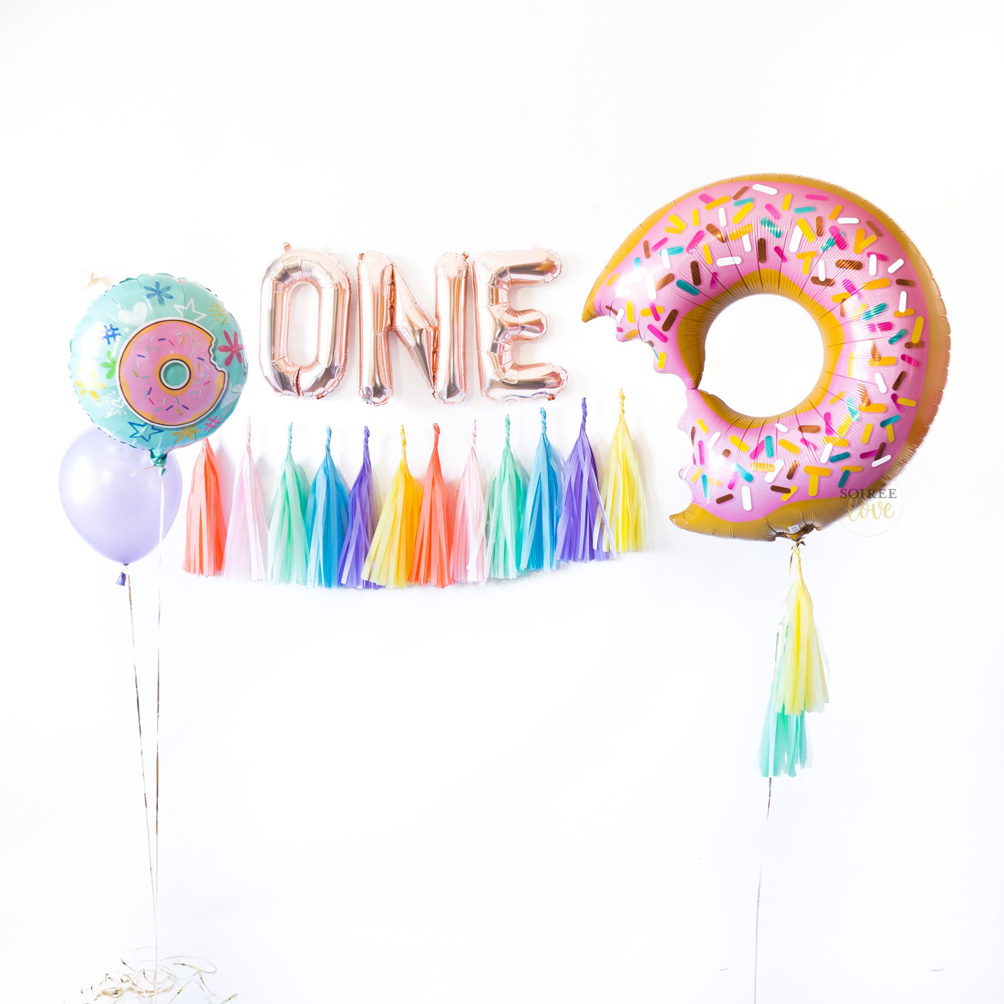 One Donuts Balloon Party Box