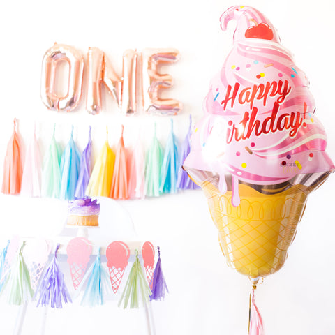 Ice Cream Birthday Balloon