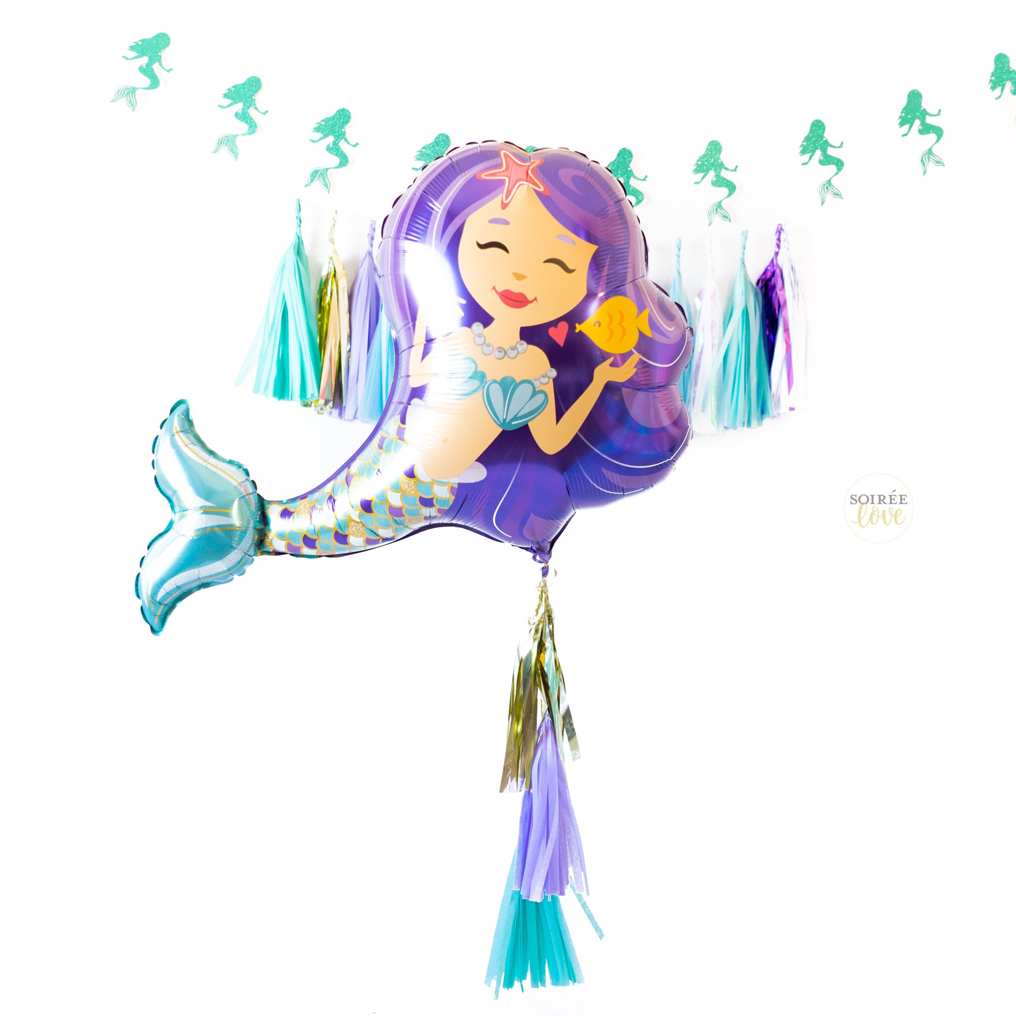 Mermaid Balloon | Purple