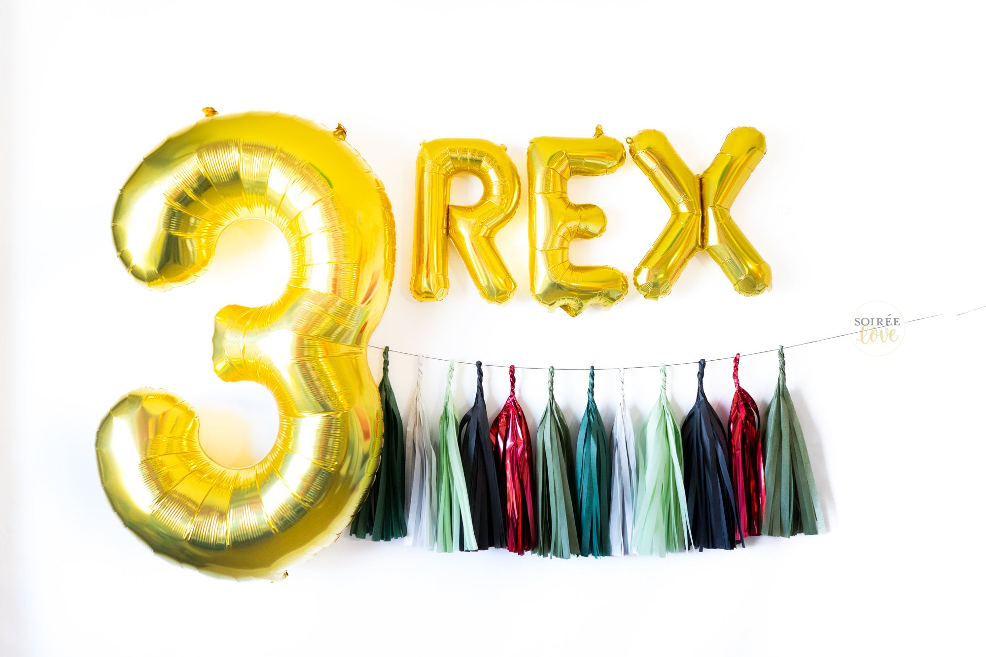 Three Rex Balloon Garland