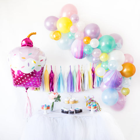 Cupcake Balloon Tassel Birthday Party Box
