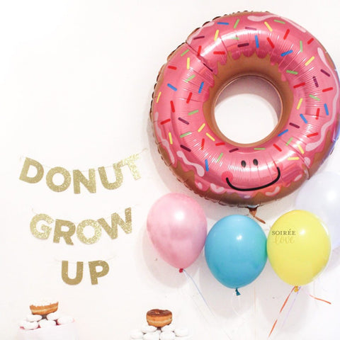 Donut Grow Up Balloon & Garland Birthday Party Box