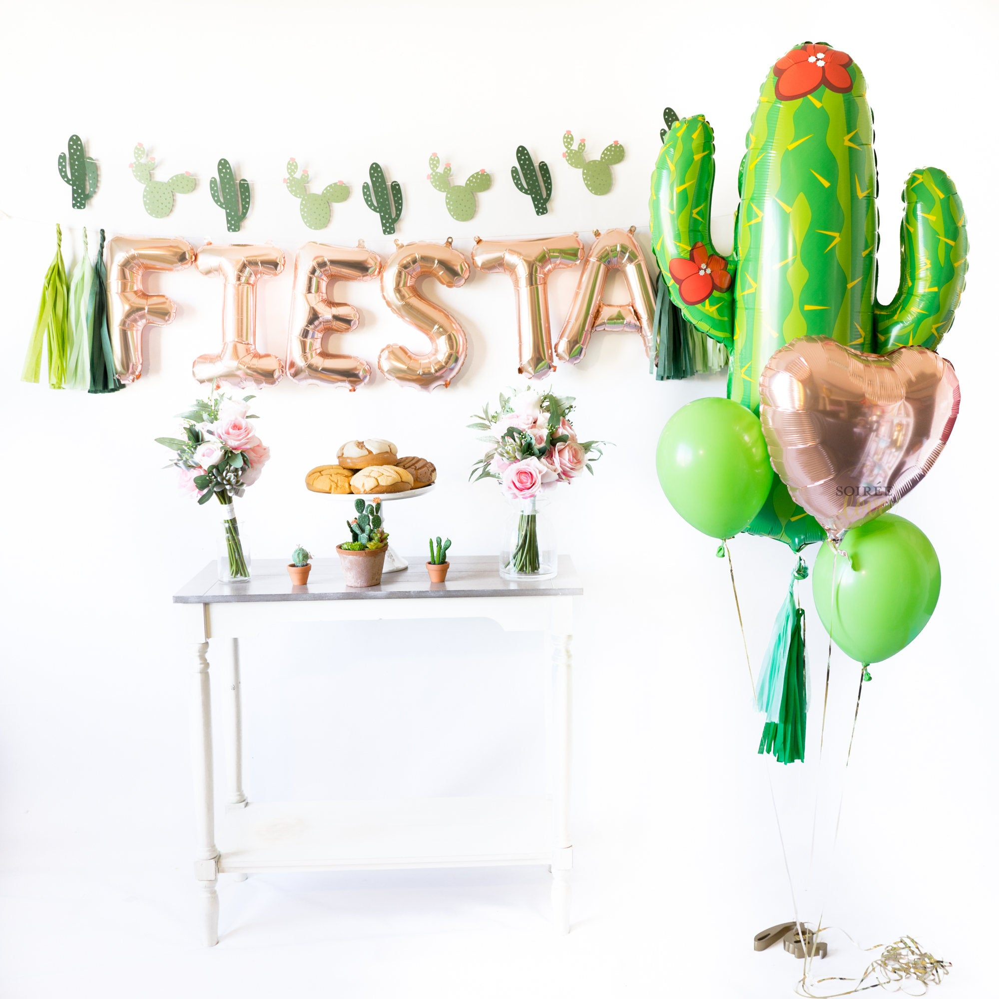 Rose Gold Fiesta Balloon Party Box