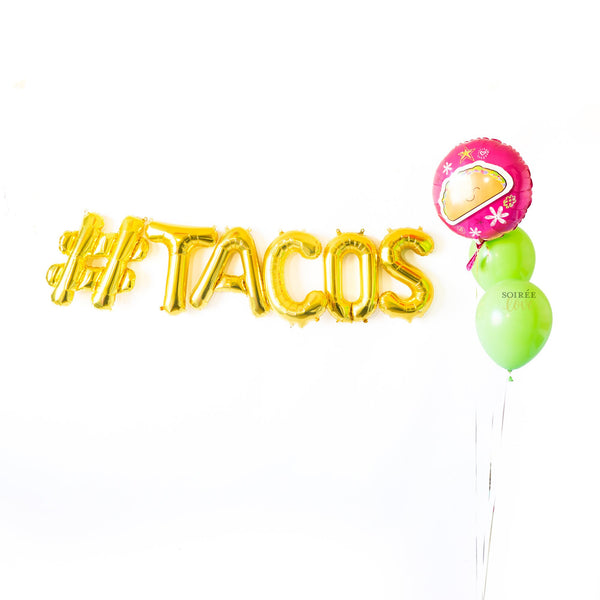 Tacos Balloon Party Box