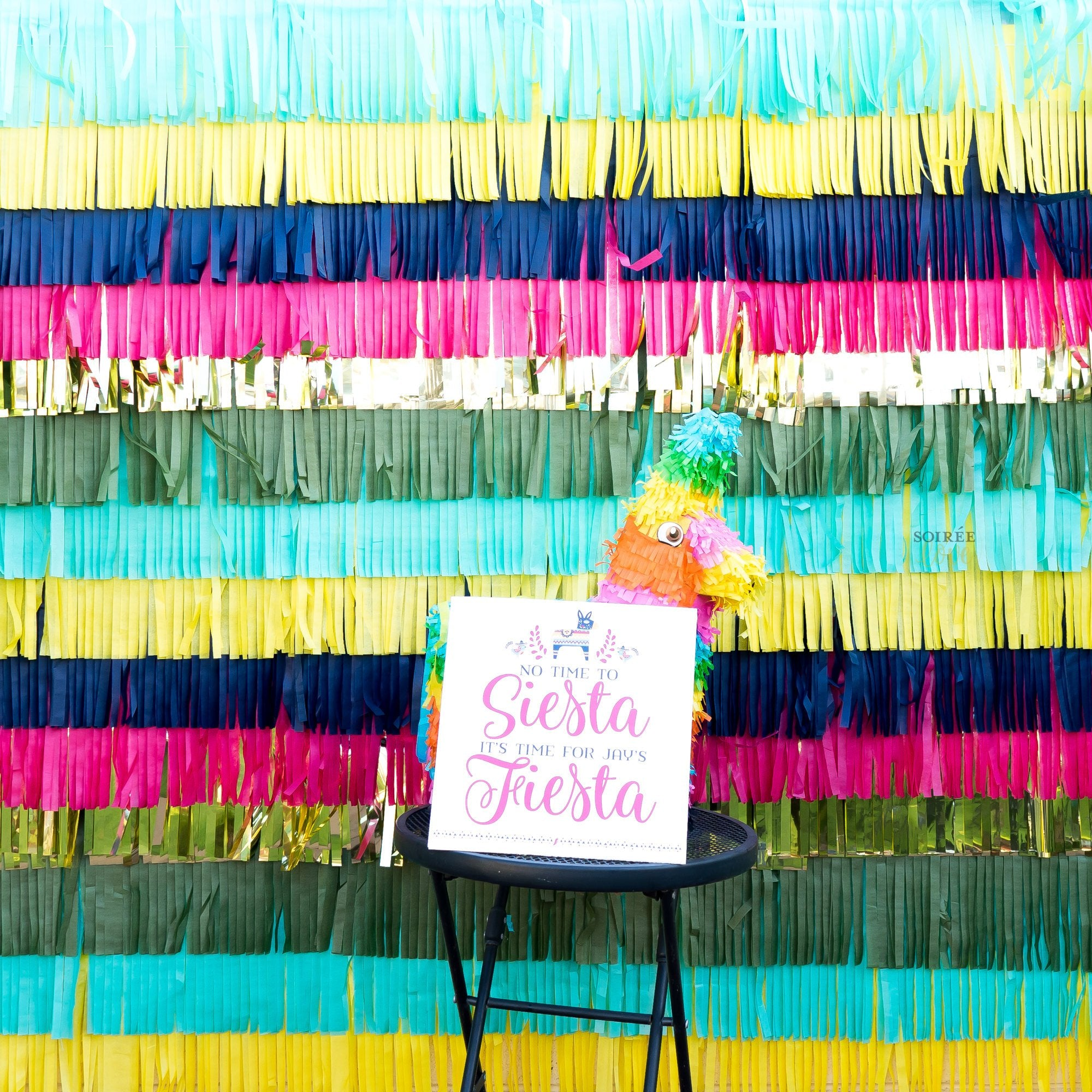 DIY Custom Fiesta Fringe Backdrop