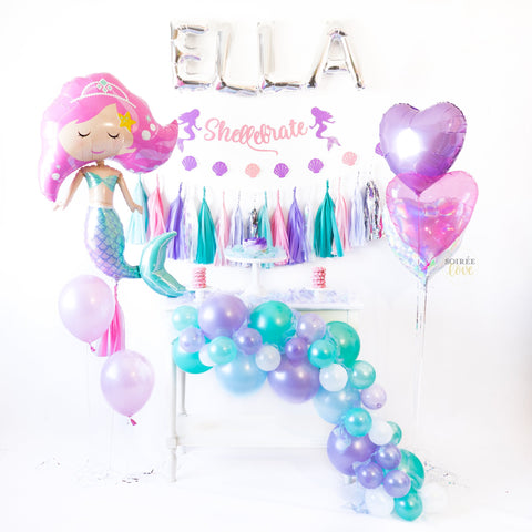 DIY Mermaid Balloon Garland