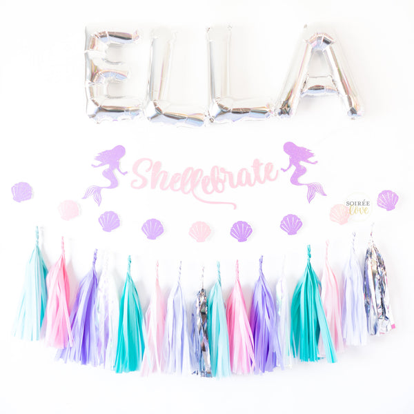 Mermaid Love Paper Tassels