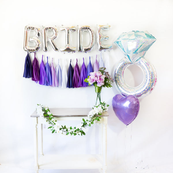 Bride Balloon Banner Party Box | Purple