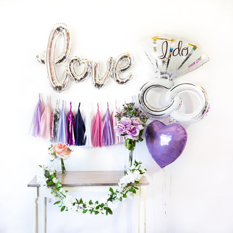Love Bride Balloon Tassel Party Box
