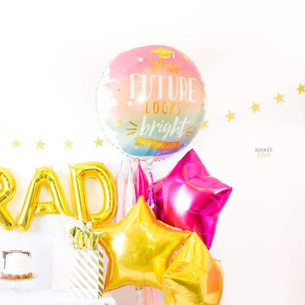 Pink & Gold Grad Balloon Tassel Party Box