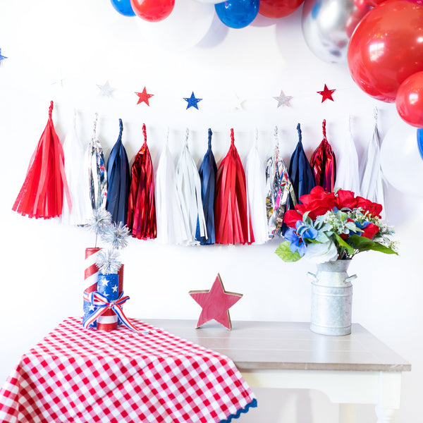America Balloon Tassel Party Box