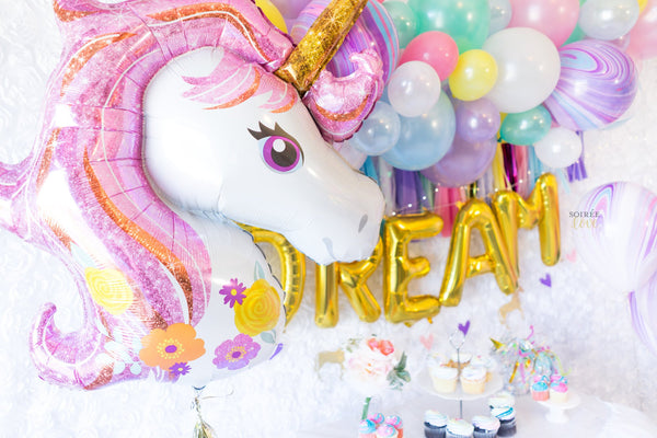DIY Unicorn Balloon Garland