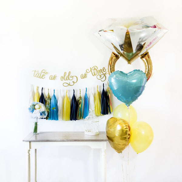 Tale as old as time Balloon Tassel Party Box