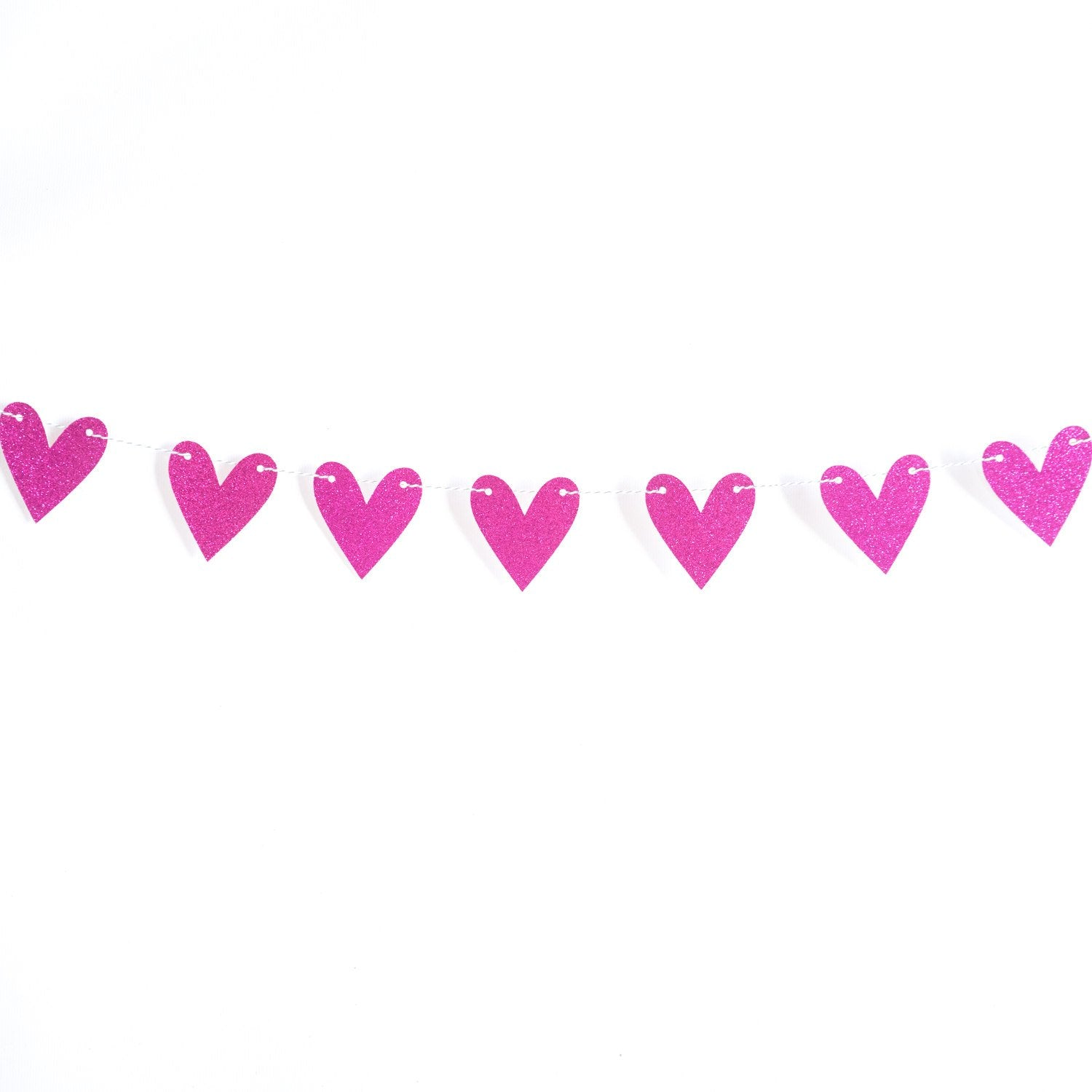 Heart Garland | Fuchsia Bright Pink
