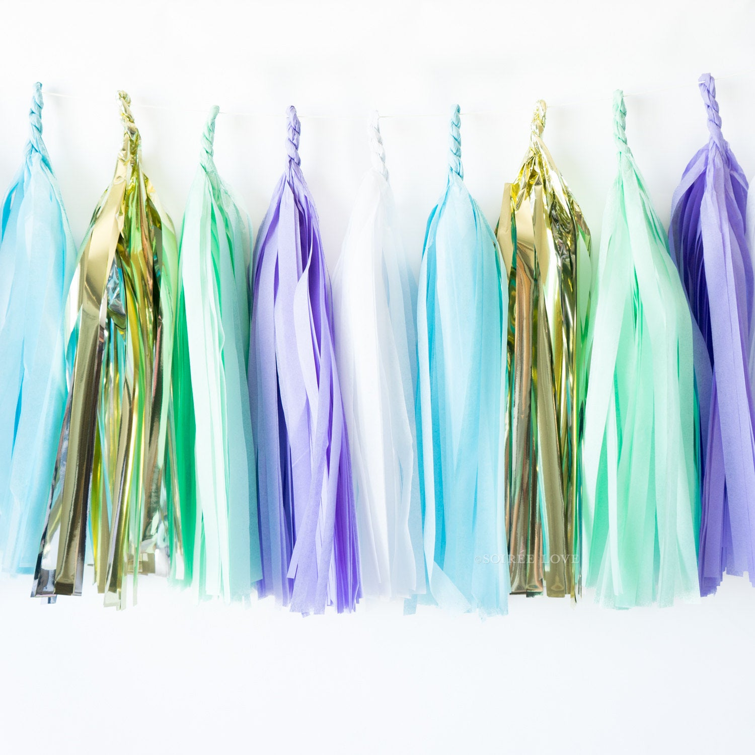Mermaid Paper Tassels