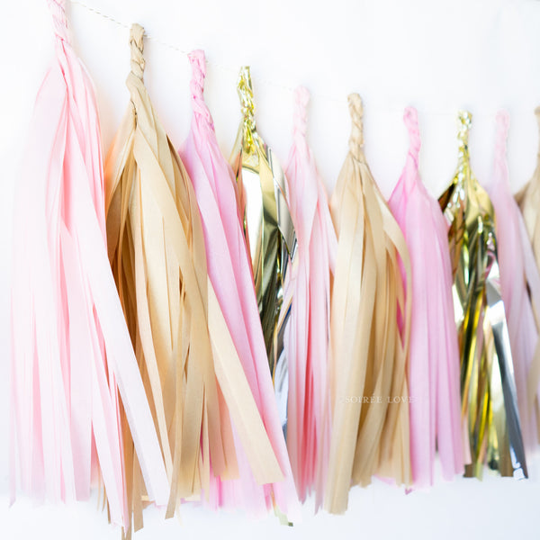 Rose Gold Paper Tassels
