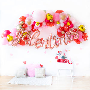 DIY Galentines Balloon Garland