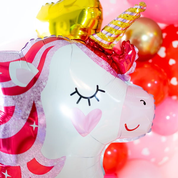 Valentine Unicorn Balloon