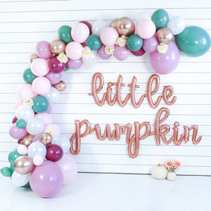 DIY Fall Blush Little Pumpkin Balloon Garland