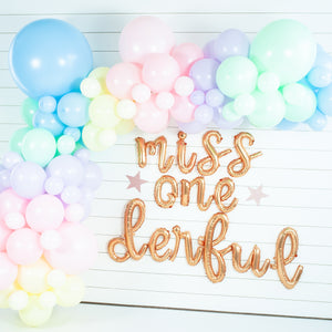 DIY Pastel Rainbow Balloon Garland