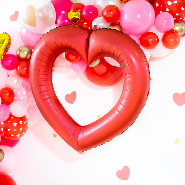Valentine Linking Heart Balloons | Red