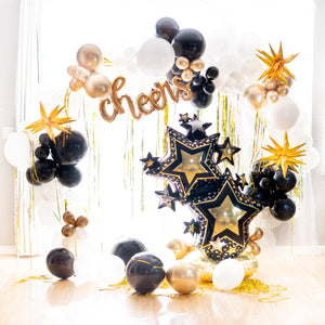 DIY Grad Cheers Balloon Garland
