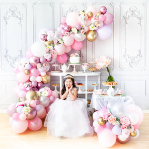 DIY Princess Tea Balloon Garland
