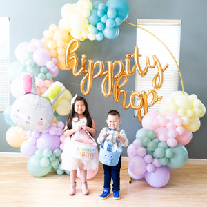 DIY Hippity Hop Easter Balloon Garland