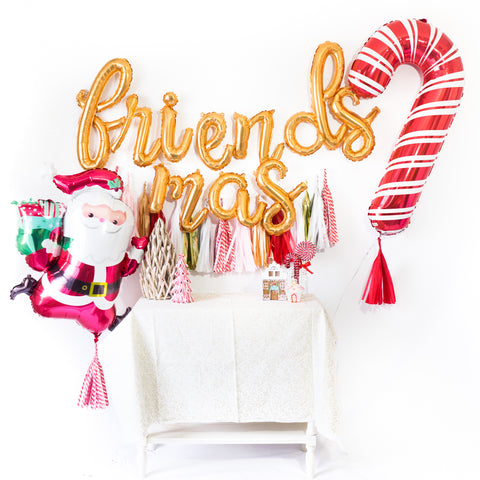Friendsmas Christmas Balloon Tassel Party Box