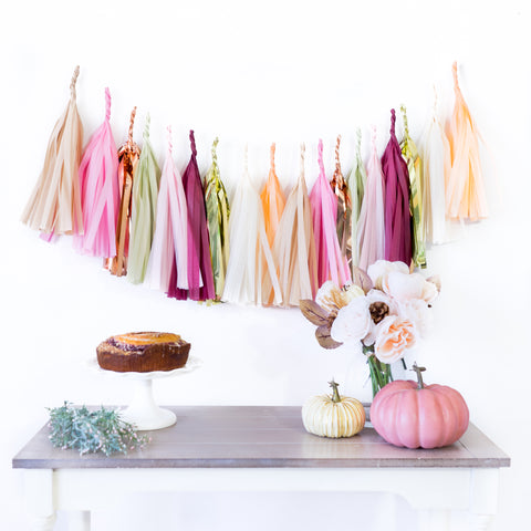 Blush Fall Paper Tassels