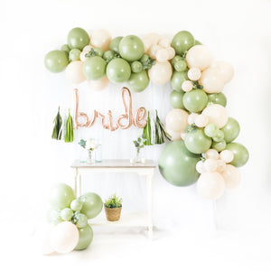 Script Bride Eucalyptus Balloon Tassel Party Box