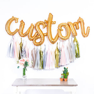 Custom Script Balloon Banner