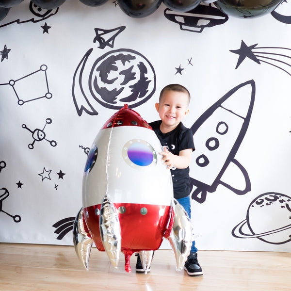 Space Rocketship Balloon | Red Rocketship