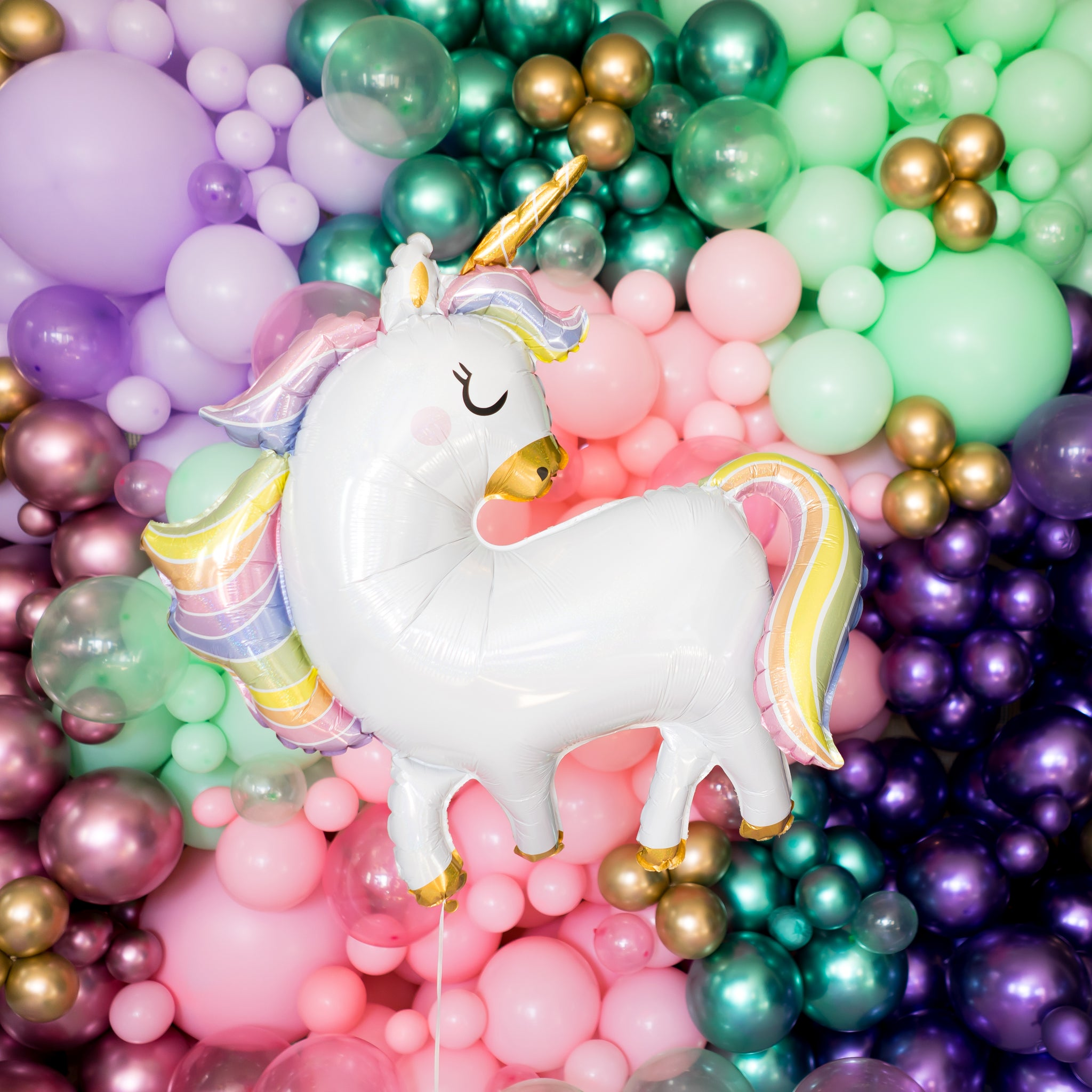 Unicorn Holographic Balloon