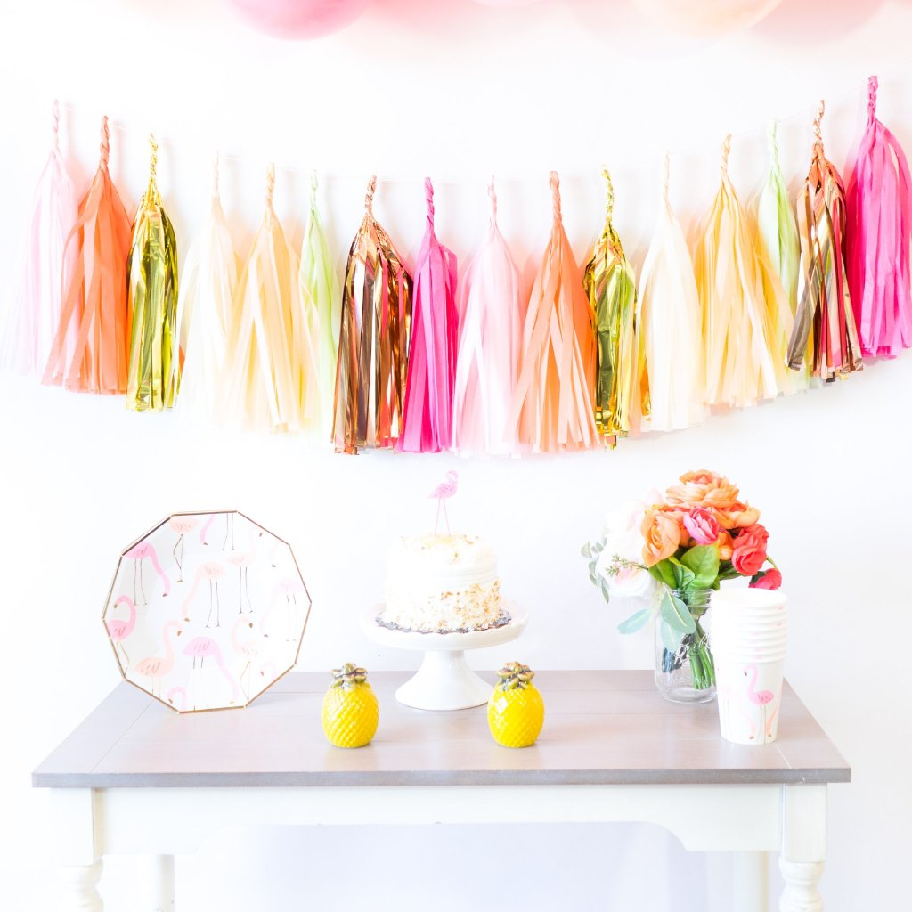 Summer Flamingle Paper Tassels