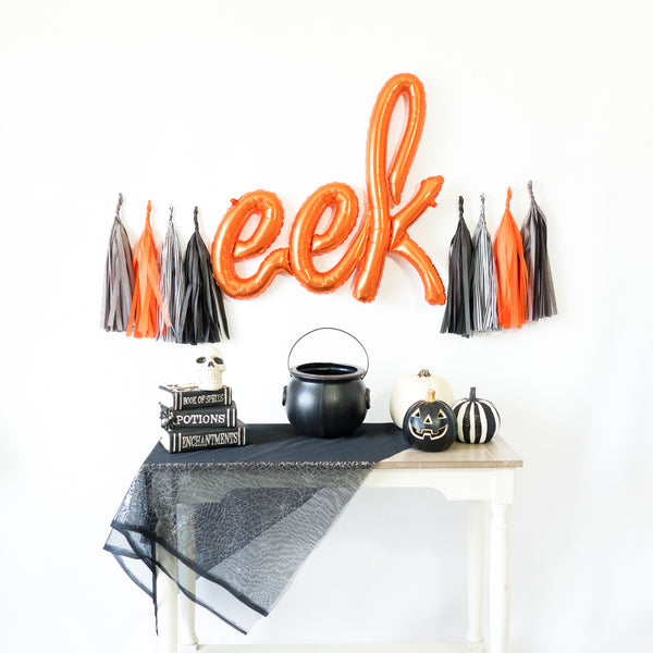 Script Eek Balloon Banner | Orange