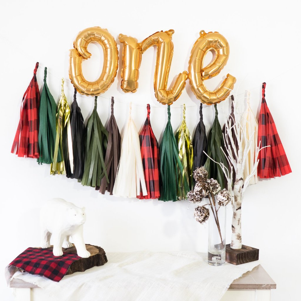 One Script Balloon Banner | Woodland