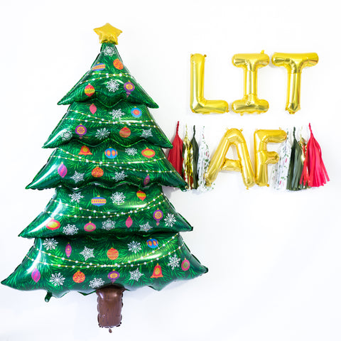 Lit AF Friendsmas Balloon Tassel Party Box