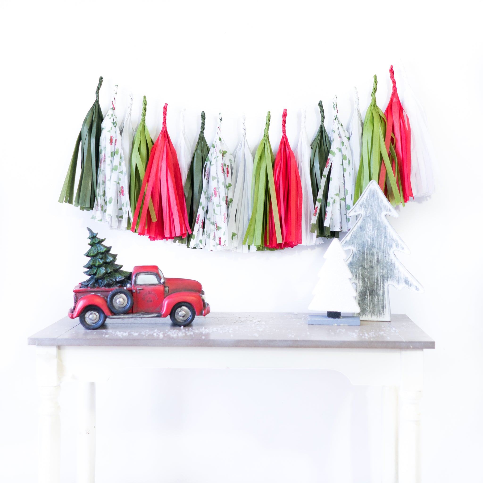 Red Truck Christmas Tree Tassels