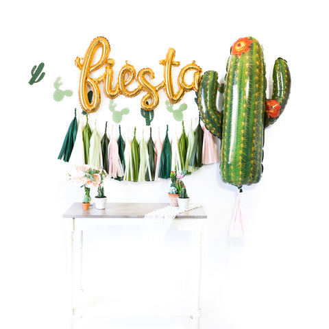 Fiesta Blush Cactus Balloon Party Box