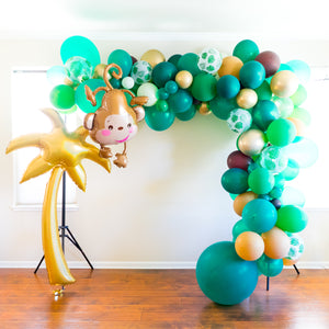 DIY Jungle Balloon Garland